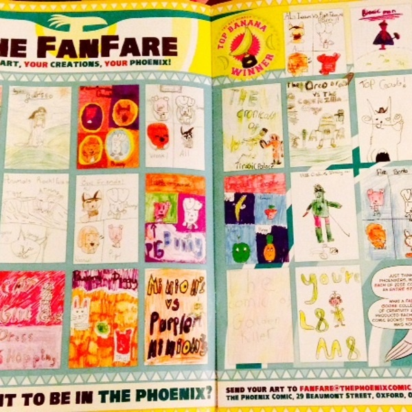 Comic Books Created By Hayton Pupils Featured In Phoenix Comic Magazine